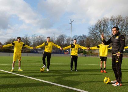 Fußballtrainings für junge Geflüchtete