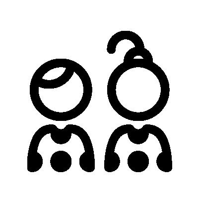 Icon Gesundes-aktives-Aufwachsen schwarz