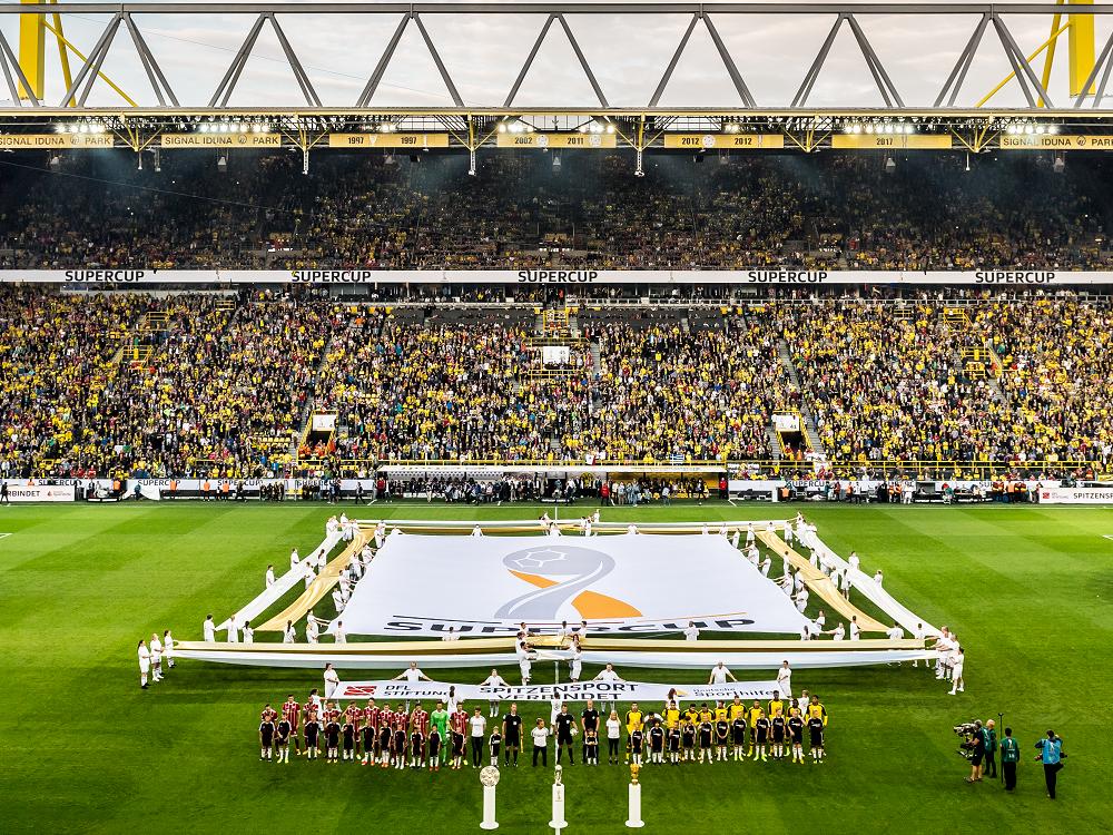 Nachwuchssportler beim Supercup : DFL Stiftung