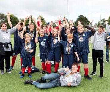 Inklusionsturnier Siegermannschaft © VfL Wolfsburg