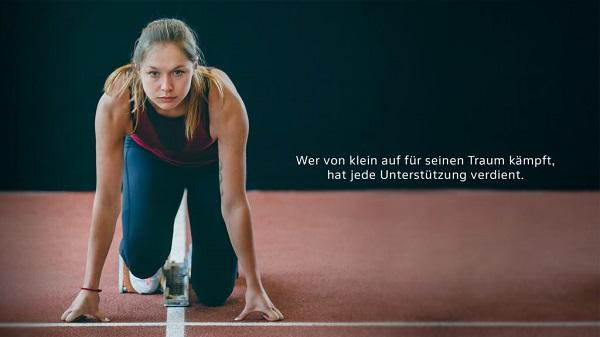 Gina Lückenkemper, Hauptdarstellerin im neuen Spot