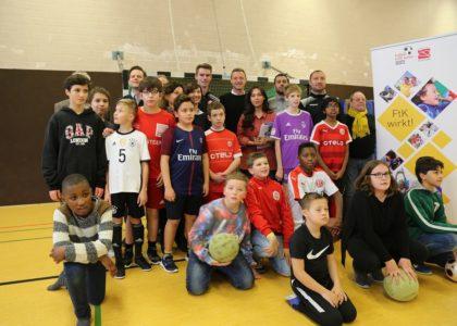 """""""Fußball trifft Kultur"""" jetzt auch an der Maria-Montessori-Gesamtschule in Düsseldorf"""
