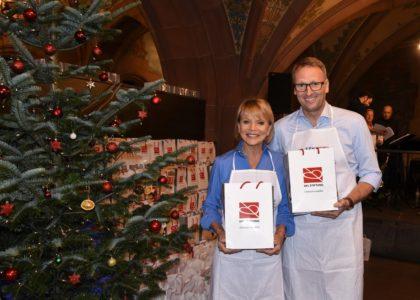 Weihnachtsgansessen für Obdachlose in Frankfurt