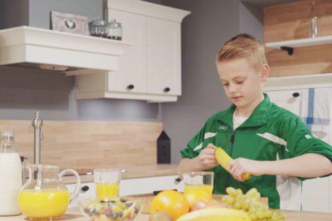 """Aktionstag """"Gesundheit und Ernährung"""" – Bananenflanke"""
