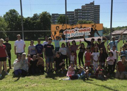 Ballsportturnier für Geflüchtete in Stuttgart