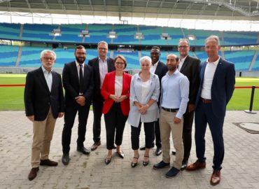 """Förderpartner von """"Willkommen im Fußball"""" gemeinsam in Leipzig"""